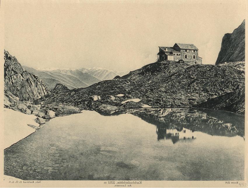 Karlsbader Hütte aus Die Schutzhütten und Unterkunftshäuser in den Ostalpen